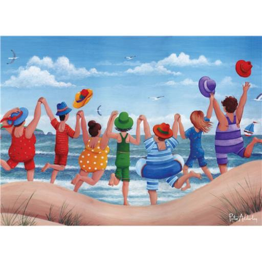 Peter Adderley Card - Beach Party Rainbow