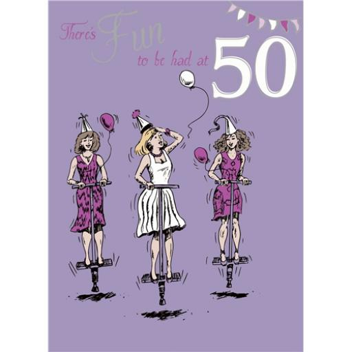 Young At Heart Card - 50 Female - Pogo Fun