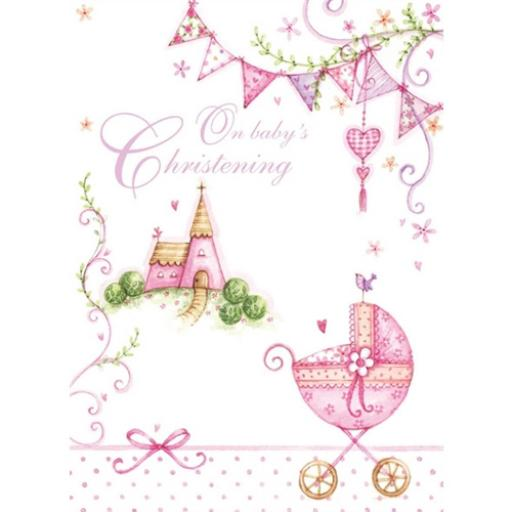Christening Card - Baby Girl