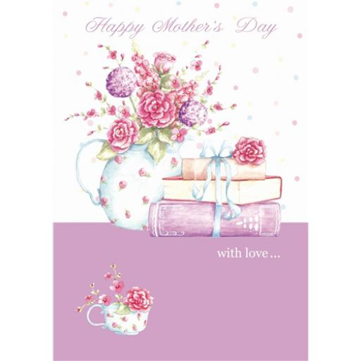 Mother's Day Card - Books & Posy