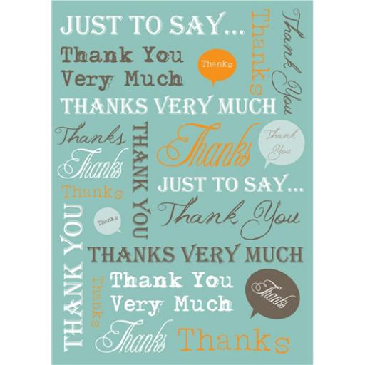 Notecard Pack - Thank You Text