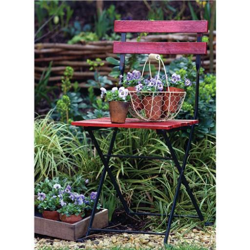 Beautiful Blanks Card - Pots On Garden Chair