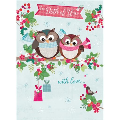 Christmas Card (Single) - Both Of You 'Owls On Branch'