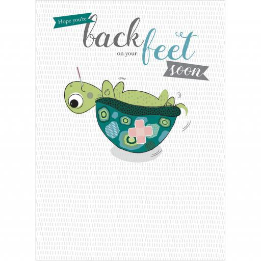Get Well Soon Card - Back On Your Feet