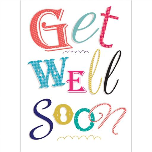 Get Well Soon Card - Text