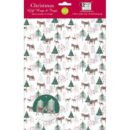 Christmas Wrap & Tags - Donkey Wonderland