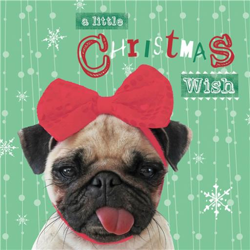 Charity Christmas Card Pack - A Pug For Christmas