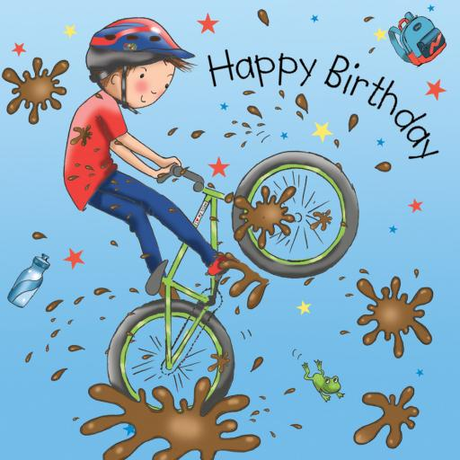 Twizler Card - BMX Biker (Happy Birthday)