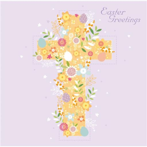 Easter Card Pack - Floral Cross