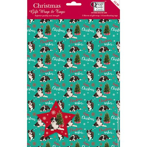 Christmas Wrap & Tags - A Very Collie Christmas