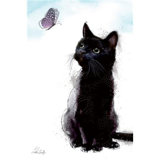 Dinkies Mini Card - Black Cat