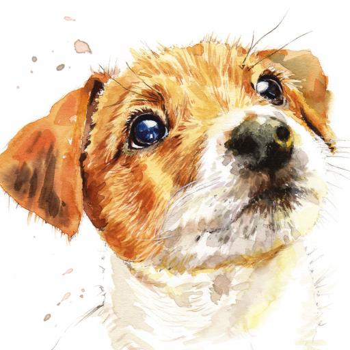 Puppy Dog Eyes Card Collection - Jack Russell Biscuit