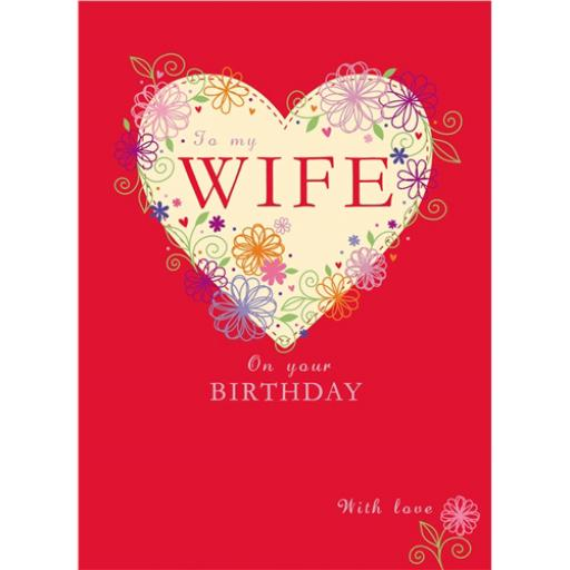Family Circle Card - Heart Of Flowers (Wife)