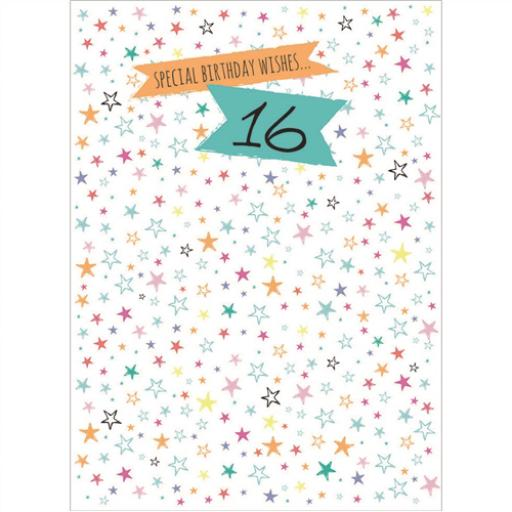 Age To Celebrate Card - 16 Stars