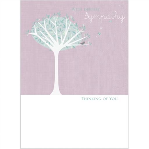 Sympathy Card - Little Bird In Tree