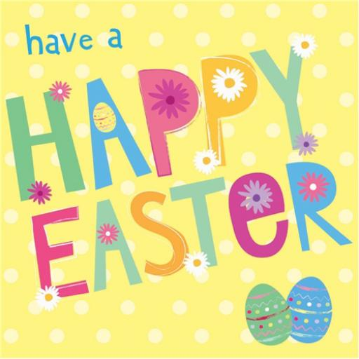 Easter Card Pack - Happy Easter (Text)