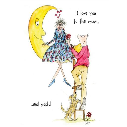 Valentines Day Card - To The Moon & Back