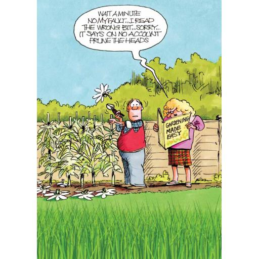 Gardeners Weakly Card - My Fault
