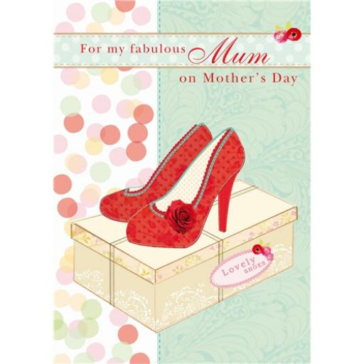 Mother's Day Card - Red Shoes