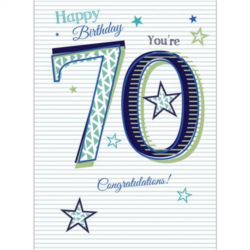 Special Birthdays Card - 70 Male