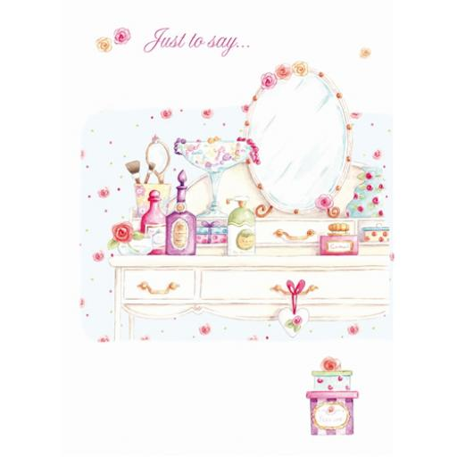 Teacups & Trinkets Card - Dressing Table
