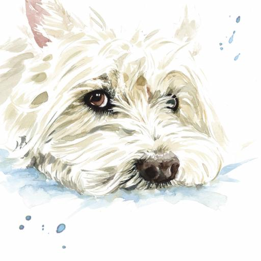 Puppy Dog Eyes Card Collection - West Highland White Terrier Hamish