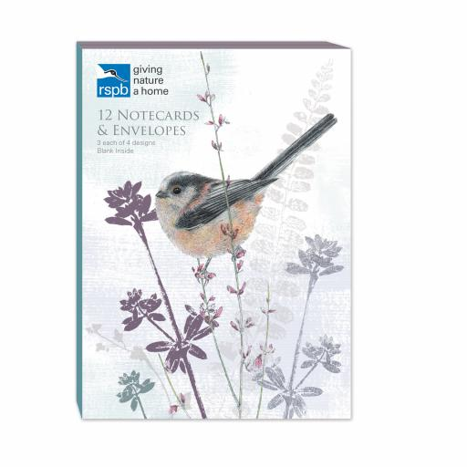 RSPB - A6 Notecard Pack (Long Tailed Tit)