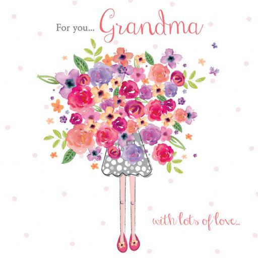 Family Circle Card - Big Bouquet (Grandma)