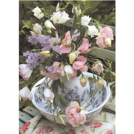Beautiful Blanks Card - Jug & Flowers