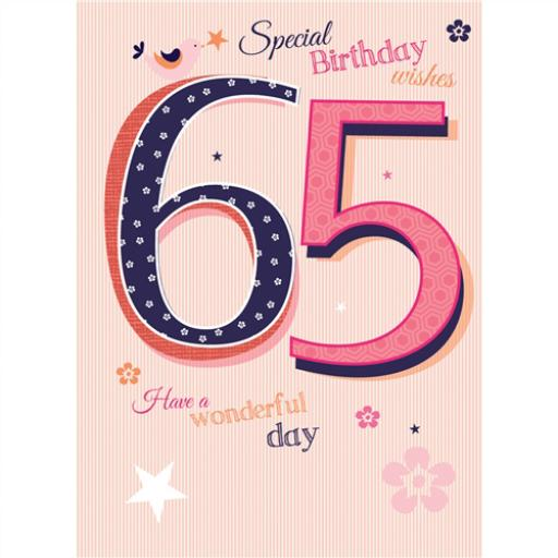 Special Birthdays Card - 65 Female