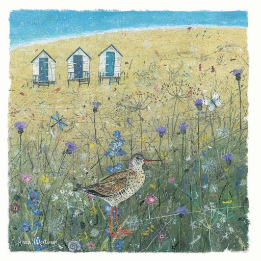 Seaside Charm Card - Sandpiper On The Dunes