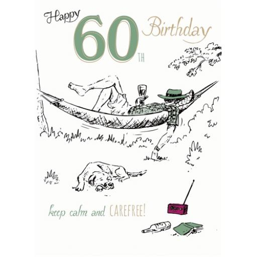 Young At Heart Card - 60 Male - Hammock Time