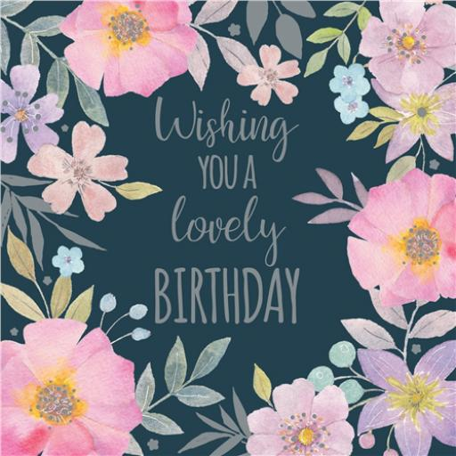 Vintage Garden Card - Lovely Birthday
