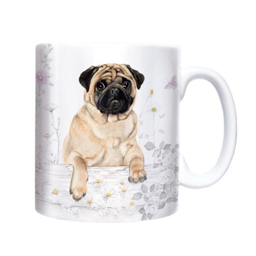 Straight Sided Mug - Pug