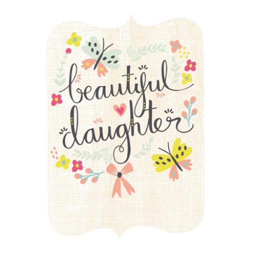 New Baby Card - Butterflies & Bows (Daughter)