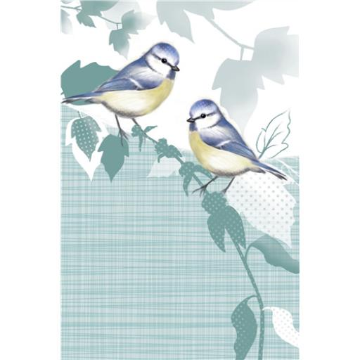 Dinkies Mini Card - Little Blue Tits