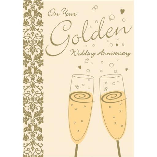Anniversary Card - Bubbly (Your Golden Anniversary)