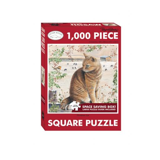 Square Jigsaw - Christmas Cat