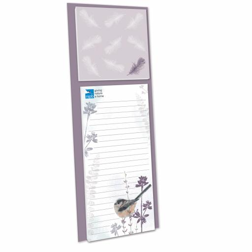 RSPB - Magnetic Memo Pad (Long Tailed Tit)