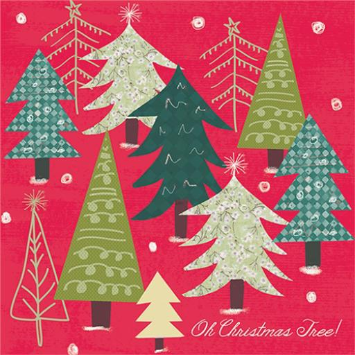 Charity Christmas Card Pack - Oh Christmas Tree