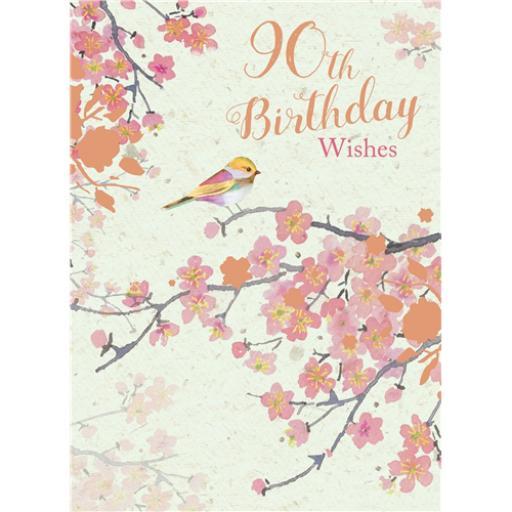 Age To Celebrate Card - 90 Little Bird