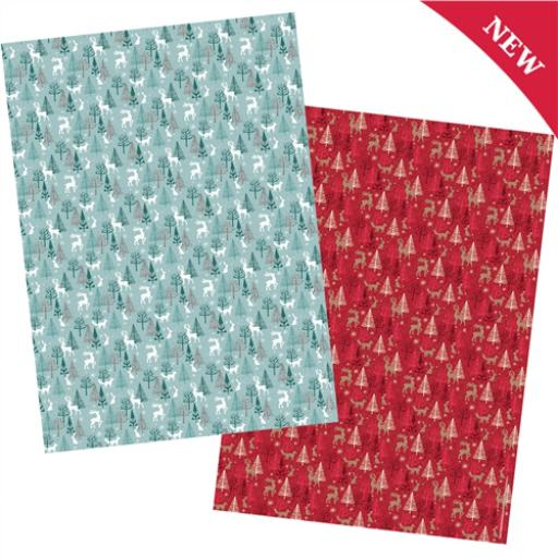 Christmas Wrap & Tags Bumper (Twin) Pack - Winter Woodland