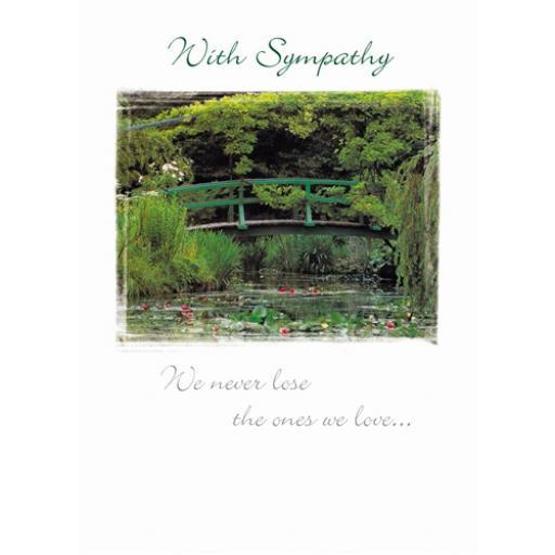 Sympathy Card - Giverny Bridge