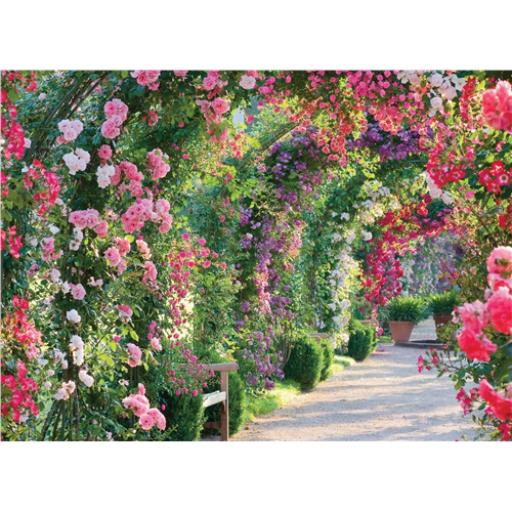 Beautiful Blanks Card - Archway Of Roses