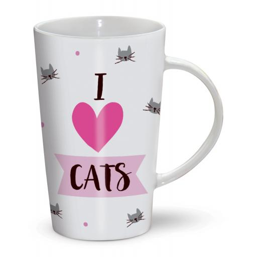 Latte Mug - I Love Cats