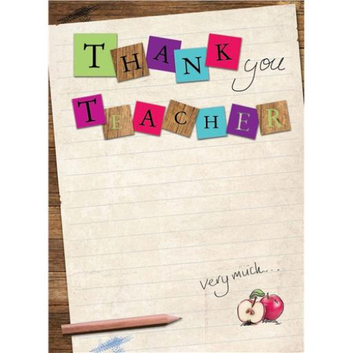Thank You Card - Teacher
