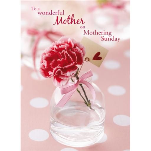 Mother's Day Card - Pink Carnation