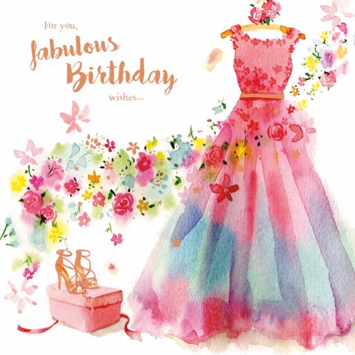 Birthday Treats Card Collection - Dress