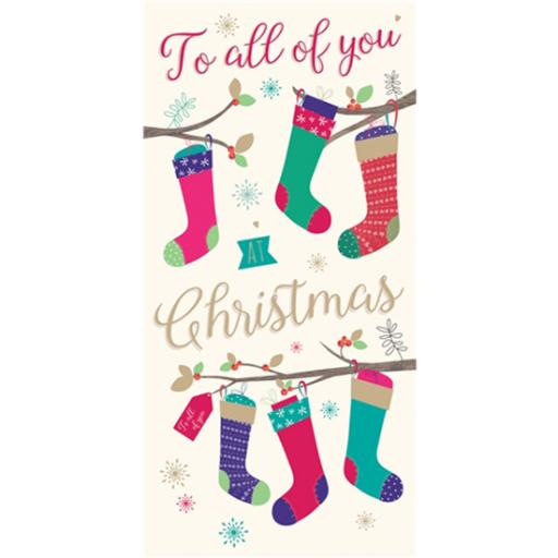 Christmas Card (Single) - Money Wallet - Hanging Stockings
