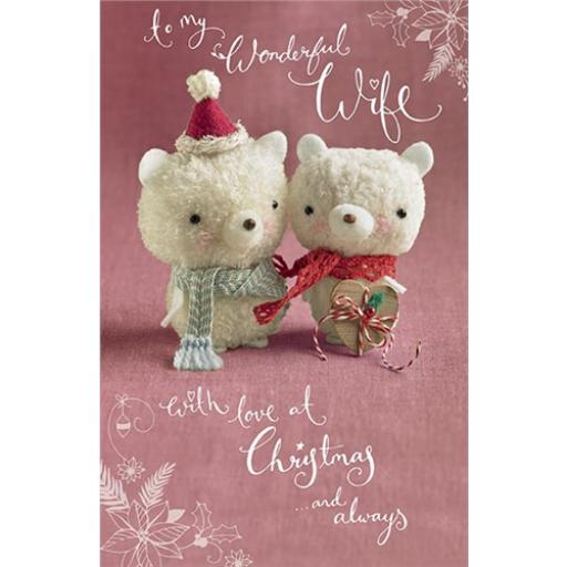 Christmas Card (Single) - Polars Bears (Wife)
